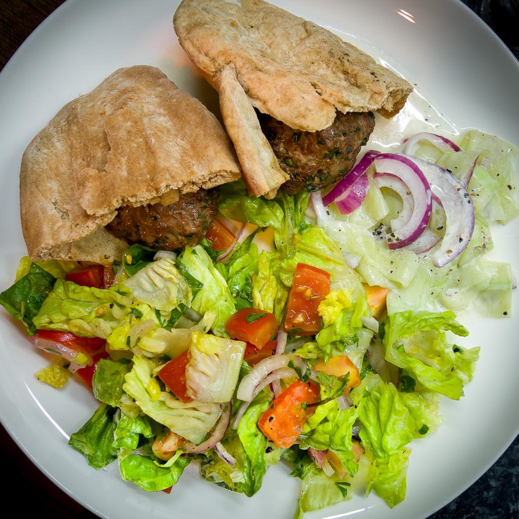 HelloFresh Grilled Lamb Pitas with Cucumber Salsa and Salad